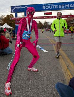 Camille Herron wins Marathon in Spiderwoman Bodysuit