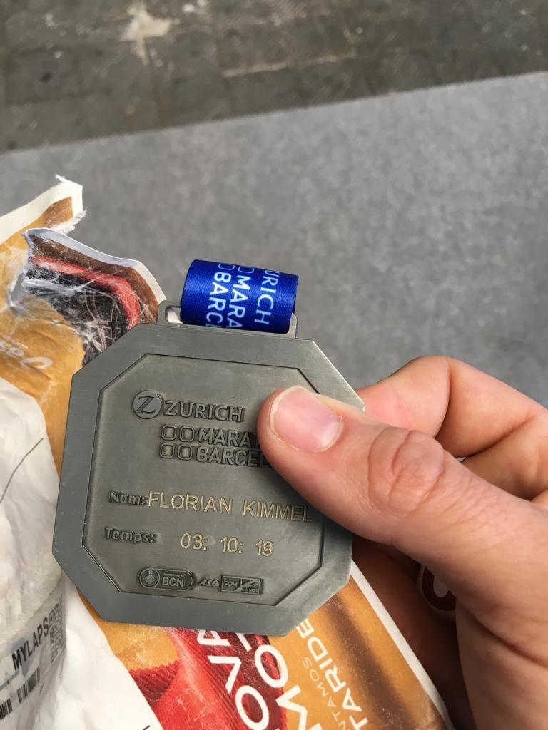 Medaille des Barcelonamarathons