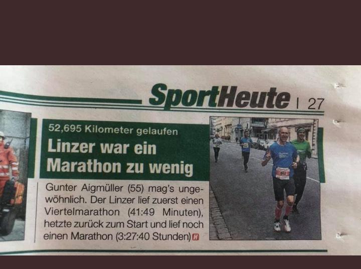 Zeitungsartikel zum 5/4 Marathon