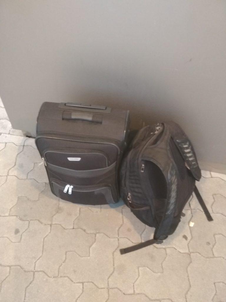 Koffer vor dem Abflug