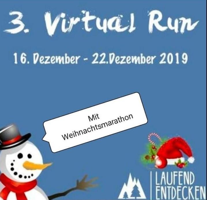 3. Virtual Run mit Weihnachtsmarathon vom 16.12 - 22.12