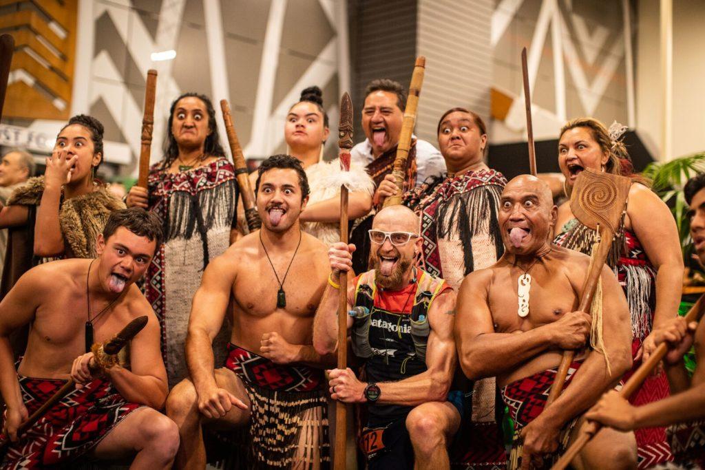Maori bei der Siegesfeier 2019