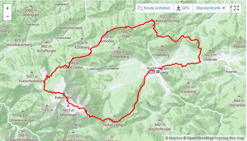 Streckenfoto vom Schneebergtrail/Schneeberglauf