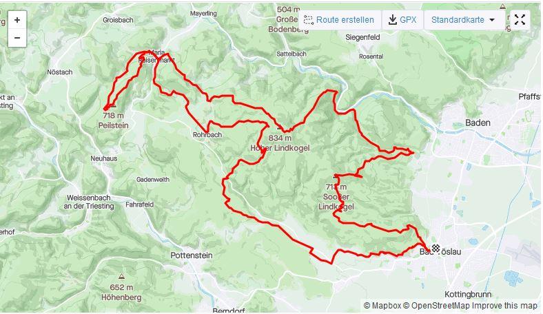 Streckenfoto vom Lindkogeltrail