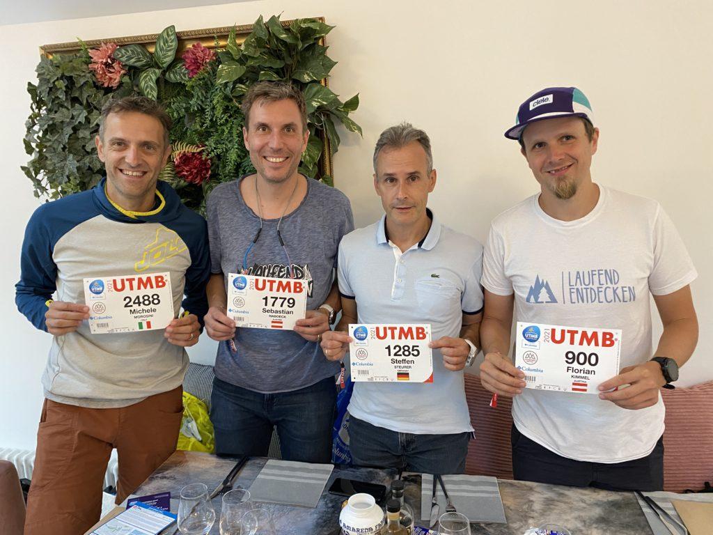 Die vier Läufer mit ihren Startnummern